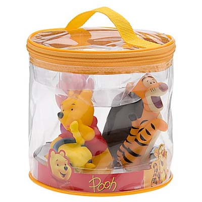 your wdw store disney bath toy set winnie the pooh. Black Bedroom Furniture Sets. Home Design Ideas