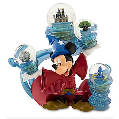 Disney Snow Globe Mickey Mouse Four Parks One World