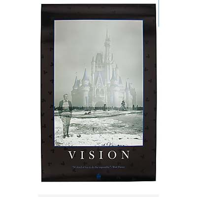Disney poster print quotations series vision 16 x 20