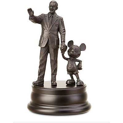 Disney Bronze Sculpture Statue - Mickey Mouse and Walt Partners