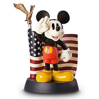 Disney Big Figure Statue - Mickey Mouse - Salutes American Flag