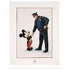 Disney Charles Boyer Print -  Mickey and the Policeman 32 x 40