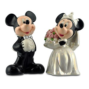 Disney Salt and Pepper Shakers - Mickey and Minnie Wedding