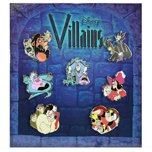 Disney 7 Pin Booster Pin Set - Villains mini Pin Set