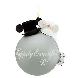 Disney Christmas Ornament - Wedding Hats - Happily Ever After