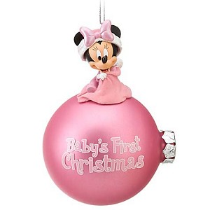 Disney Holiday Ornament Minnie Mouse Babys First Christmas