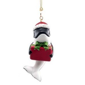 SeaWorld Christmas Ornament - Resin Shamu