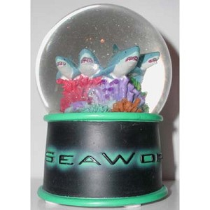 SeaWorld Snow Globe - Shark Row Design