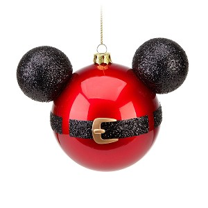 Disney Christmas Ornament - Mickey Ears Large - Santa Mickey