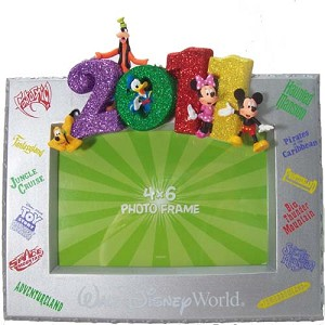 Disney Picture Photo Frame - 2011 Walt Disney World Attractions Silver