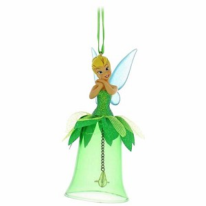 Disney Christmas Ornament - Tinker Bell on a Glass Bell