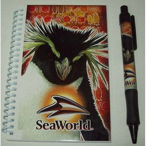 SeaWorld - Autograph book with pen and Case - Emperor Penguin