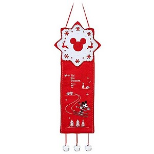 Disney Christmas Door Hanger - Nostalgic Red and White Mickey Mouse