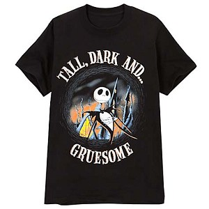 Disney Adult Shirt - Jack Skellington - Tall, Dark and Gruesome