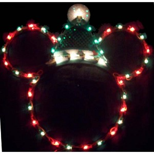 Disney Wall Hanging - Light Up Mickey - Red and Green