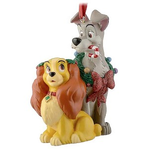 Disney Christmas Figurine Ornament - Lady and the Tramp