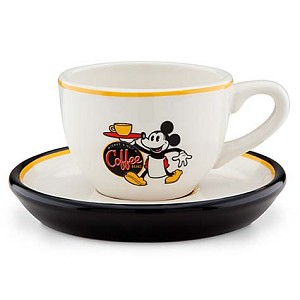Disney Cup & Saucer Set - Mickey Mouse Espresso Cup and Saucer Set