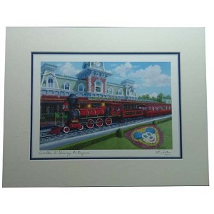 Disney Artist Print - Larry Dotson - Walter E. Disney - Train Engine #1