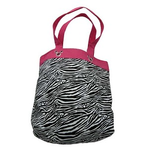 Disney Tote Bag - Zebra Print with Pink Handles
