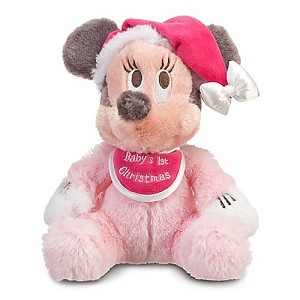 Disney Plush - Baby Plush - Minnie Mouse - ''Baby's First Christmas''