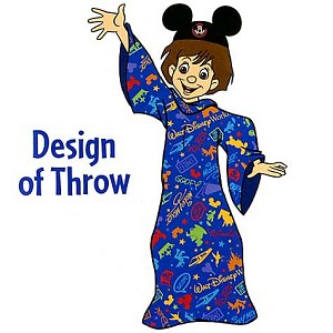 Disney Child Robe - Storybook Fleece Robe Blanket for Kids