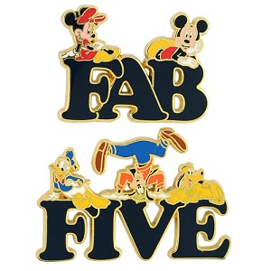 Disney Fab Five Pin - Fab Five Letter Pins - Mickey & Pals