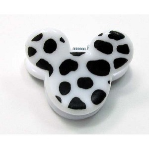 Disney Mini Hair Clip - Mickey Mouse Ears - White Cheetah