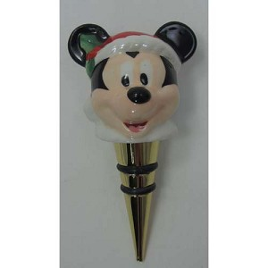 Disney Bottle Stopper - Mickey Mouse - Santa Mickey