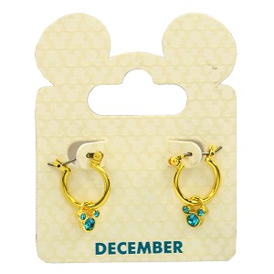 Disney Earrings - Hoops and Mickey Icons - Birthstones