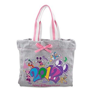 Disney Tote Bag - 2012 Walt Disney World Resort - Gray