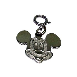 Disney Charm - Sterling Silver Mickey Mouse Face