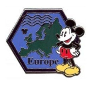 Disney Hidden Mickey Pin - 2012 Series - Continent Stamps - Europe