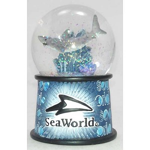 SeaWorld Snow Globe - Shark Banner