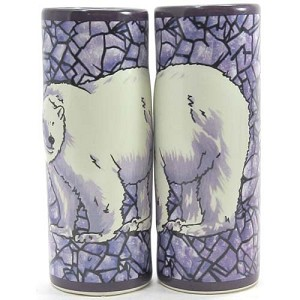 SeaWorld Tall Shooter Shot Glass - Mosaic Polar Bear