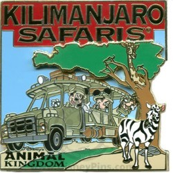 Disney Kilimanjaro Safaris Pin - Mickey, Minnie and Goofy