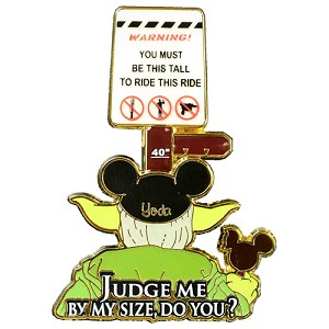 Disney Yoda Pin - Height Requirement