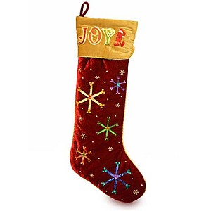 Disney Christmas Holiday Stocking - Joy Jumbo Plush Stocking