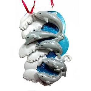 SeaWorld Christmas Ornament - Dolphin Family - Five Dolphins