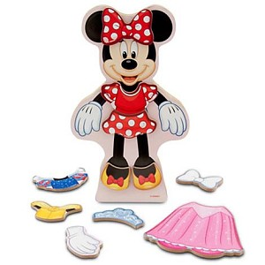 Disney Magnetic Dress-Up Set - Minnie Mouse - Wooden