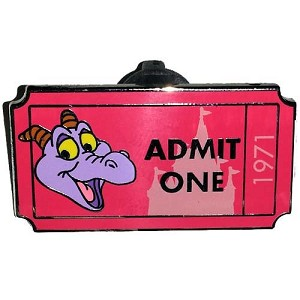 Disney Mystery Pin - Admit One Ticket Pass - Figment