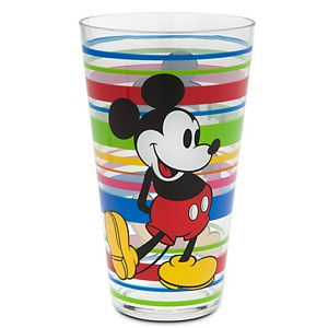 Disney Tumbler Glass - Mickey Mouse Summer Fun Stripes