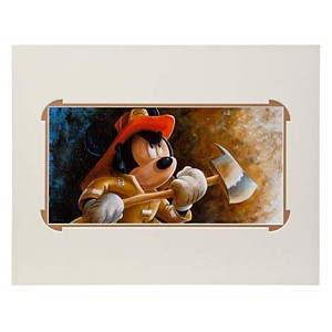 Disney Deluxe Artist Print - Fire Fighter Mickey by Darren Wilson