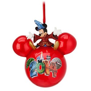 Disney Christmas Ornament - 2014 Sorcerer Mickey Mouse on Ball