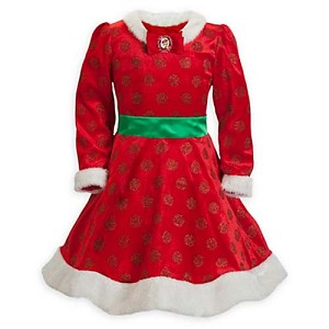 Disney Girls Dress - Minnie Mouse Holiday Costume Dress
