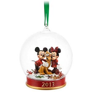 Disney Christmas Ornament - Mickey, Minnie and Pluto 2013 Ball Ornament