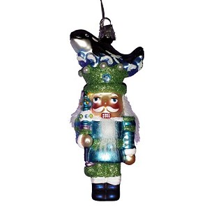 SeaWorld Christmas Ornament - Blown Glass - Nutcracker Orca