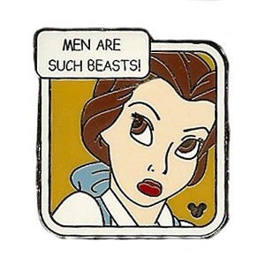Disney Hidden Mickey Pin - Princess Quote Collection - Belle