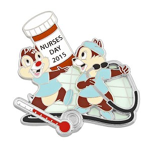 Disney Nurses Day Pin - 2015 Nurse's Day - Chip and Dale