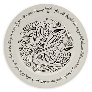 Disney Dinner Plate - Be Our Guest - 11'' Lumiere