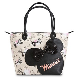 Disney Satchel Bag - Minnie Mouse Bows Canvas Tote by Loungefly